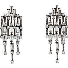DANNIJO MYRA Earrings Earring ($320) ❤ liked on Polyvore featuring jewelry, earrings, silver, swarovski crystal jewelry, post earrings, dannijo earrings, dannijo jewelry and oxidized jewelry