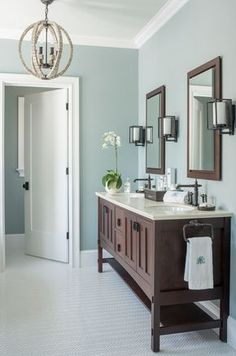 """Benjamin Moore 1570 Gray Wisp for the walls and the Ceiling Paint Color is """"Benjamin Moore Gray Cashmere"""