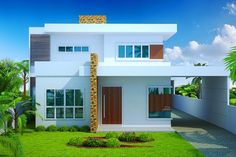 Pergola For Sale Lowes Indian Home Design, Minimalist House Design, Minimalist Home, Style At Home, 4 Bedroom House Designs, Duplex House Plans, Concept Home, House Front Design, Home Design Plans