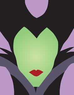 Disney Minimalist Villains | Maleficent