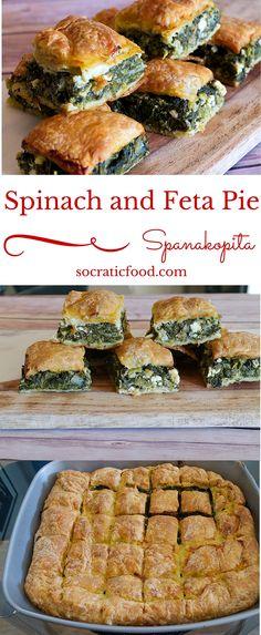 Greek Spinach and Feta (Spanakopita)