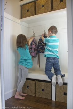 Turn a Coat Closet…into the perfect MUDROOM!