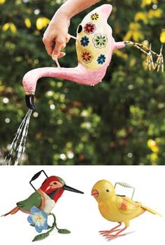 Bird Watering Can Charming bird has a practical secret! @Loraine Newby this seems to suite you perfectly!