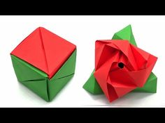 Magic Rose Cube – DIY Origami Tutorial by Nature Folds – 92 - Origami Diy Origami, Easy Origami Rose, Geometric Origami, Origami And Kirigami, Origami Tutorial, Origami Paper, Easy Paper Crafts, Diy Paper, Origami Magic Rose Cube