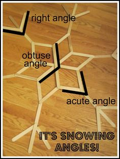 """Relentlessly Fun, Deceptively Educational: It's Snowing Angles! printable"""" Then I explained that right angles are 90 degrees, obtuse angles are greater than 90 degrees, and acute angles are less than 90 degrees. I showed him how to line up the bottom of his protractor to tell the size of an angle"""""""