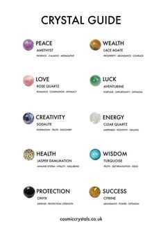 crystal healing Check out our crystal meanings guide to discover all about healing crystals. Find yours at Chakra Crystals, Crystals And Gemstones, Stones And Crystals, Wicca Crystals, Healing Gemstones, Types Of Crystals, Gem Stones, Tattoo Wort, Crystal Guide