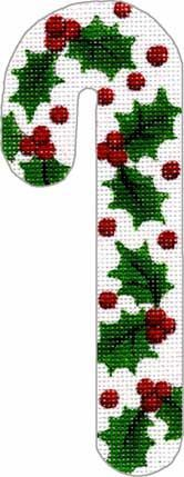 Holly Candy Cane No pattern No colorcode
