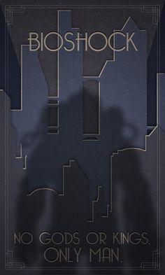 Bioshock - Retro posters by Simon Delart, via Behance