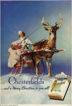 #cigarette #poster #chesterfield #vintage @alikarami_