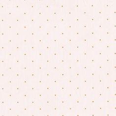 Citronille - Batiste rose pétale à mini pois moutarde