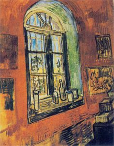 Window of Vincent's Studio at the Asylum, Vincent van Gogh,1889, Saint-Paul Hospital,  Saint-Rémy, Provence