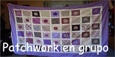 Patchwork en grupo Blog, Quilts, Blanket, Scrappy Quilts, Table Runners, Key Fobs, Group, Dots, Frames