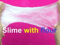 How to make slime with flour and water - YouTube