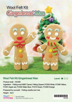 Needle Felting DIY Gingerbread man English by 1127handcrafter