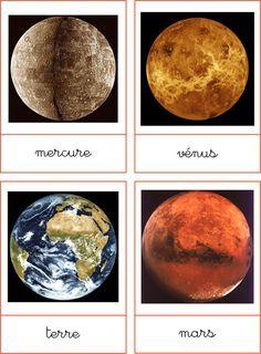 montessori a little bit: Solar system - the planets Montessori Science, Maria Montessori, Preschool Science, Solar System Images, Planet For Kids, Alternative Education, Montessori Materials, Space And Astronomy, Cycle 3