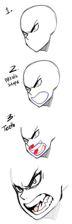 Drawing teeth mouths