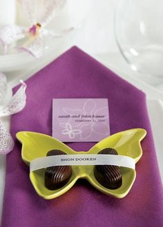 Ceramic Butterfly Dishes (Set of 6) from Wedding Favors Unlimited