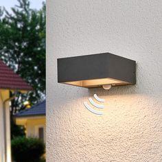 Sensor-LED-Außenwandleuchte Mahra , solarbetrieben