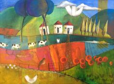 Flowers on the Way Home Dalene Meiring Parnell Gallery Maori Art, Landscape Paintings, Landscapes, The Way Home, Art Studies, New Zealand, Abstract, Gallery, South Africa