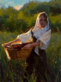 Michael Malm, in Licht getaucht – von LinusGa … / Dekopan Malm, Classic Paintings, Beautiful Paintings, Traditional Paintings, Traditional Art, Figure Painting, Painting & Drawing, Figurative Kunst, Illustration Art