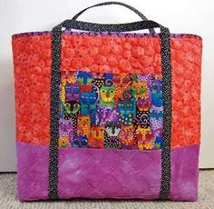 Terri Stegmiller Big Tote Tutorial - Love the fabric choice