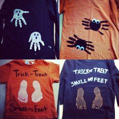 diy halloween shirts for kids they all turned out perfect so cute - Homemade Halloween Shirts