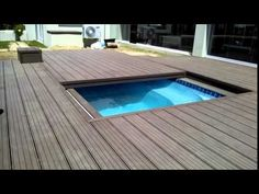 Inground Pool Deck and Its Negative Sides : Wooden Deck Around Inground Pool. Wooden deck around inground pool. on deck ideas Backyard Pool Landscaping, Swimming Pools Backyard, Swimming Pool Designs, Pool Decks, Pool Spa, Hidden Swimming Pools, Wood Pool Deck, Hot Tub Deck, Pool With Deck