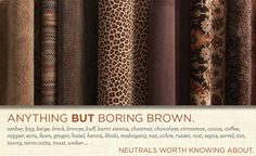 Shades of brown evoke security, reliability, and sophistication.