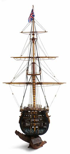 Corel's 1/98 scale HMS Victory Cutaway of the main mast section.