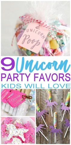 Amazing and magical party favors for a Unicorn theme party. Great ideas for girls and for boys. DIY party favor ideas, goodie bags, party favor bags and more. Find the best birthday party favors! Boy Party Favors, Party Favors For Kids Birthday, Party Themes For Boys, Boy Birthday Parties, Diy Party, Ideas Party, Birthday Ideas, 5th Birthday, Princess Party Favors