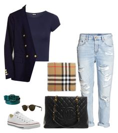 """Untitled #314"" by mariapangal on Polyvore featuring WearAll, Banana Republic, Converse, Chanel, Burberry, Ray-Ban and Gucci"