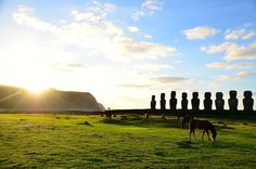 Pääsiäissaari, Easter Island, moai - All pages by Annu Easter Island, South America, Ticket, Monument Valley, Lily, Mountains, Nature, Travel, Viajes
