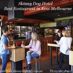 The Skinny Dog Hotel, Pub & Restaurant located in middle of Kew's High Street in Melbourne offers comfy booths dining, a beer garden, sports bar and function spaces.