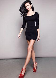 little black dress x red