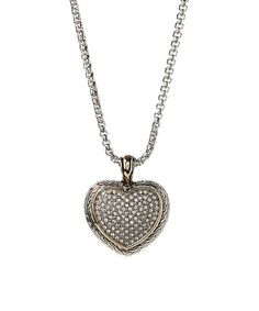 $14.99 Look what I found on #zulily! Silvertone Heart Pendant Necklace #zulilyfinds