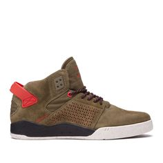 SUPRA SKYTOP III OLIVE/RISK RED - Ollie Gang Shop
