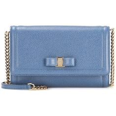 Salvatore Ferragamo Embellished Leather Clutch ($665) ❤ liked on Polyvore featuring bags, handbags, clutches, blue, salvatore ferragamo purse, leather handbags, embellished purse, blue handbags and leather purses
