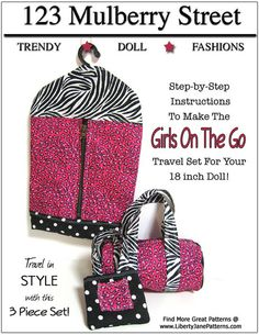 """GIRLS ON THE GO 18"""" DOLL ACCESSORIES"""