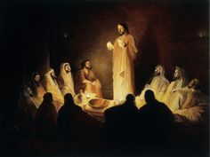 Jesus spends one last supper with the disciples Bible Pictures, Jesus Pictures, King Jesus, Jesus Is Lord, Images Of Christ, Last Supper, Jesus Cristo, Son Of God, Christian Art