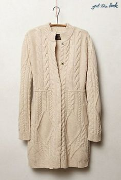 ANTHROPOLOGIE//Cabled Sweater Coat