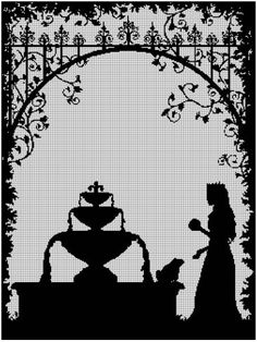 Frog+King+silhouette+cross+stitch+pattern