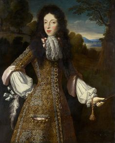 Mary of Modena when Duchess of York (yes, really), 1675, as painted by Simon Verelst.
