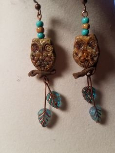 Owl earrings from Tania's      Beadsoup