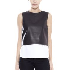 Theory Hodal Leather Top http://otteny.com/catalog/new-items/hodal-leather-top.html