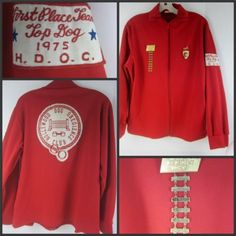"""First place """"Top Dog"""" Hollywood Obedience Club Jacket and medals from the 1970's!"""