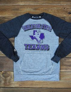 TEXAN NATION! Getcha one of these fantastic Tarleton Texan pullovers, perfect for tailgating and game day! Go TSU!