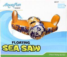New Aqua Fun Floating Sea Saw - Inflatable Pool See Saw -  2 Person Rocker