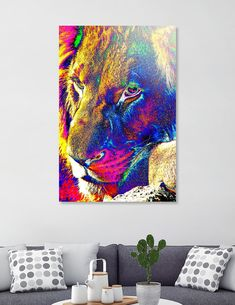 Discover «Lion Male Portrait thula-art», Limited Edition Acrylic Glass Print by Barbara Fraatz - From $99 - Curioos Framed Art Prints, Canvas Prints, Welcome Gifts, Clear Acrylic, Buy Art, Lion, Things To Come, Thing 1, Portrait