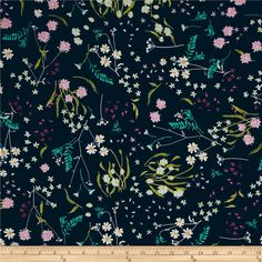 Get inspired by these beautiful colors and floral inspired patterns that will be sure to delight the eye. Designed by Katarina Roccella for Art Gallery Fabrics, this finely woven voile fabric is perfect for creating stylish blouses, shirts, or dresses and skirts with a lining. Colors include navy, magenta, aqua, pink, green, yellow and white.