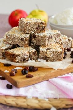 Apple Cinnamon Quinoa Squares          ***Don't forget to stop by my site for more healthy living idea http://healthyholisticliving.com